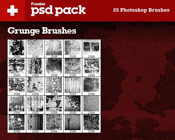 25 pinceles grunge gratis